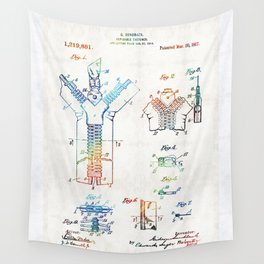 Vintage Fashion Art - Zipper Patent - By Sharon Cummings Wall Tapestry