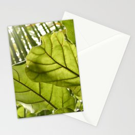 Tropical vibes leaves - Summer Light Stationery Cards