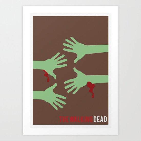 The Walking Dead - Minimalist Art Print