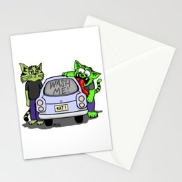 Wash Me Cats Stationery Cards