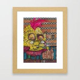 The Whimsical Pineapple Framed Art Print