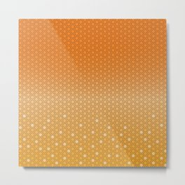 Hexagon in Orange Metal Print