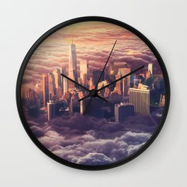 New York: Through The Roof Wall Clock