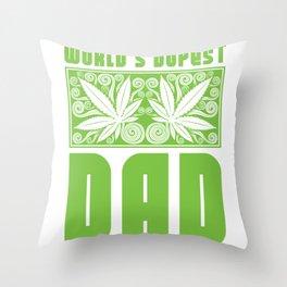 World's Dopest Dad Throw Pillow