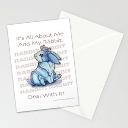 Me and My Rabbit Stationery Cards