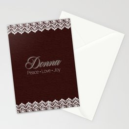Lacey Name Stationery Cards