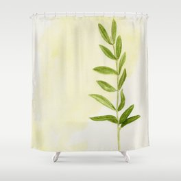 Watercolor - Olive Branch I Shower Curtain