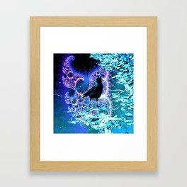 Cheeky Psy Crow Framed Art Print