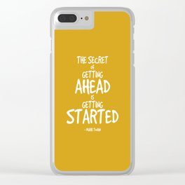 Secret to Getting Ahead Quote - Twain Clear iPhone Case