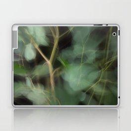 Abstract Eucalyptus Leaves on Black Background-Fleur Blur Series Laptop & iPad Skin