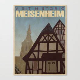Vintage Travel Poster n°1 Canvas Print