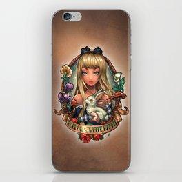 Follow The White Rabbit. iPhone Skin