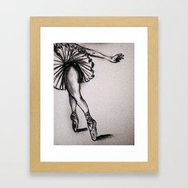 Ballerina - Charcoal  Sketch Framed Art Print