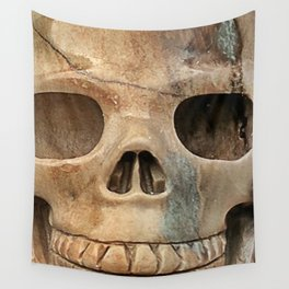 Picasso Stone Skull Wall Tapestry
