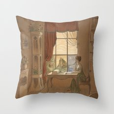 Jane Austen, Mansfield Park - the East Room Throw Pillow