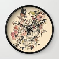 butterfly Wall Clocks featuring La Dolce Vita by Norman Duenas