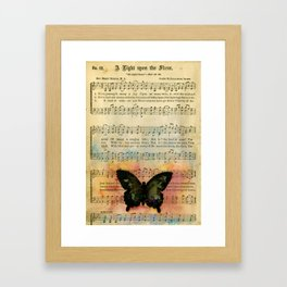 Butterfly Collage 7G by Kathy Morton Stanion Framed Art Print