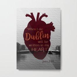Dublin Heart Metal Print