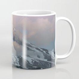 Pink Fog Mountain Morning Coffee Mug