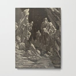 Camille Flammarion - Astronomie populaire  Black And White Magical Space Crystal Fantasy Landscape Metal Print