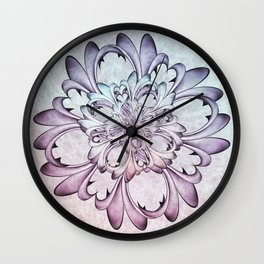 Floral abstract . Wall Clock