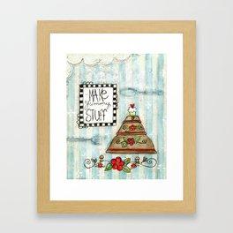 make yummy stuff Framed Art Print