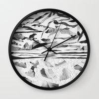 sand Wall Clocks featuring Sand  by Jihan Mv