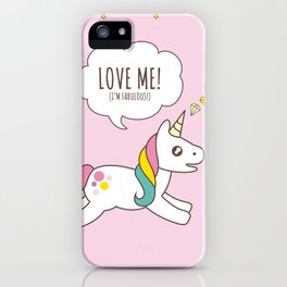 Valentine's Day - Love Me Unicorn iPhone Case