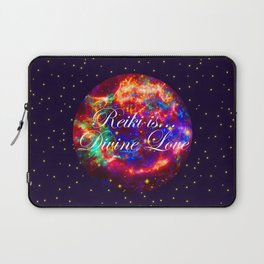 Reiki is Divine Love | The Energy it Flows | Going with the Flow Laptop Sleeve