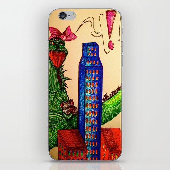 Godzilla boner iPhone & iPod Skin