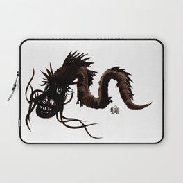 Head first black dragon ink painting Laptop Sleeve