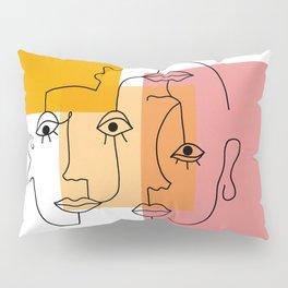 COLOR BLOCK FACES Pillow Sham