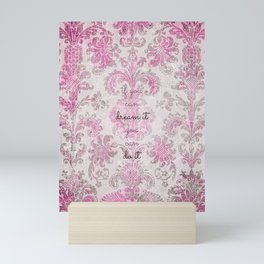 you can tapestry v. pink & raspberry Mini Art Print