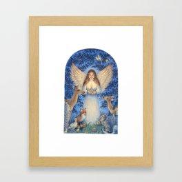 Woodland Angel Framed Art Print
