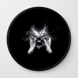 The Cry Wolf Wall Clock