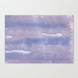 Purple Blue abstract watercolor pattern Canvas Print