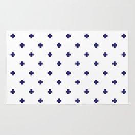 Modern Swiss - Bold Style Cross Plus Sign Rug