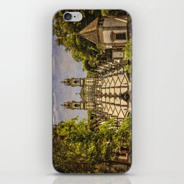 Portugal, Minho district, Braga, the sanctuary of Bom Jesus and the baroque stairway iPhone Skin