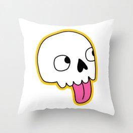 Blep Skull Throw Pillow