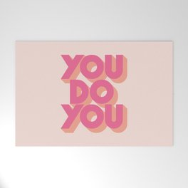 You Do You Block Type Pink Welcome Mat