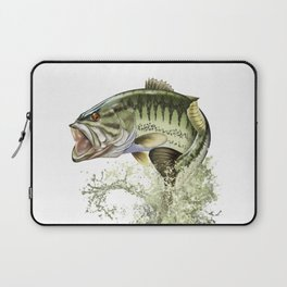 Bigmouth Bass Leaping to Freedom Laptop Sleeve