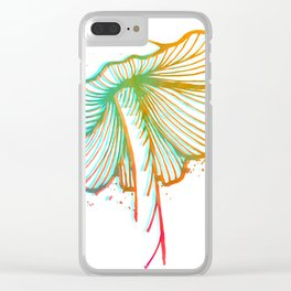 Mushroom Vibrations Clear iPhone Case