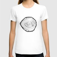 tree rings T-shirts featuring Tree Rings by brittcorry