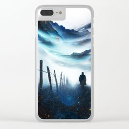 The Abyss A star time traveler Clear iPhone Case
