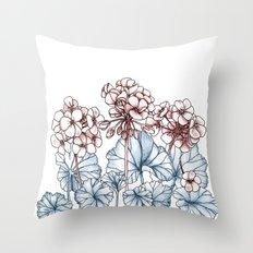 Pelargonium Throw Pillow