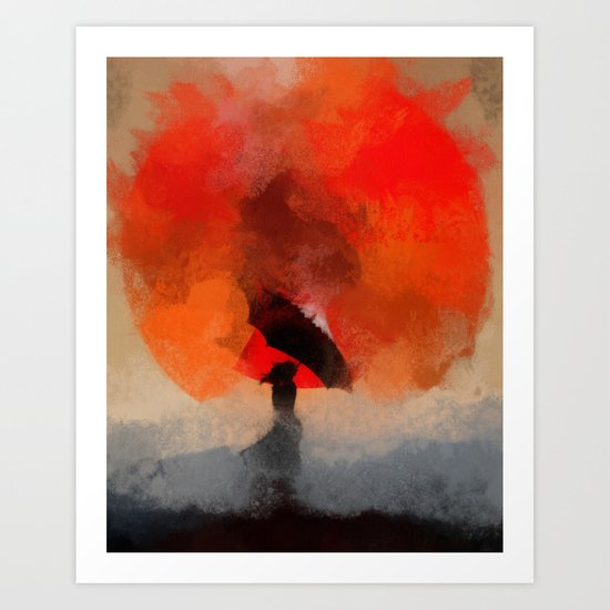 umbrellaliensunshine: atomicherry winter! Art Print