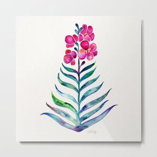 Blooming Orchid – Fuchsia & Indigo Palette Metal Print
