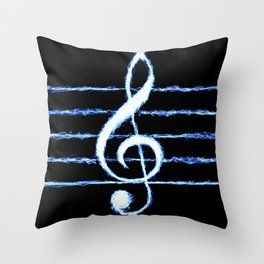 Treble Clef Lightning *revised Throw Pillow