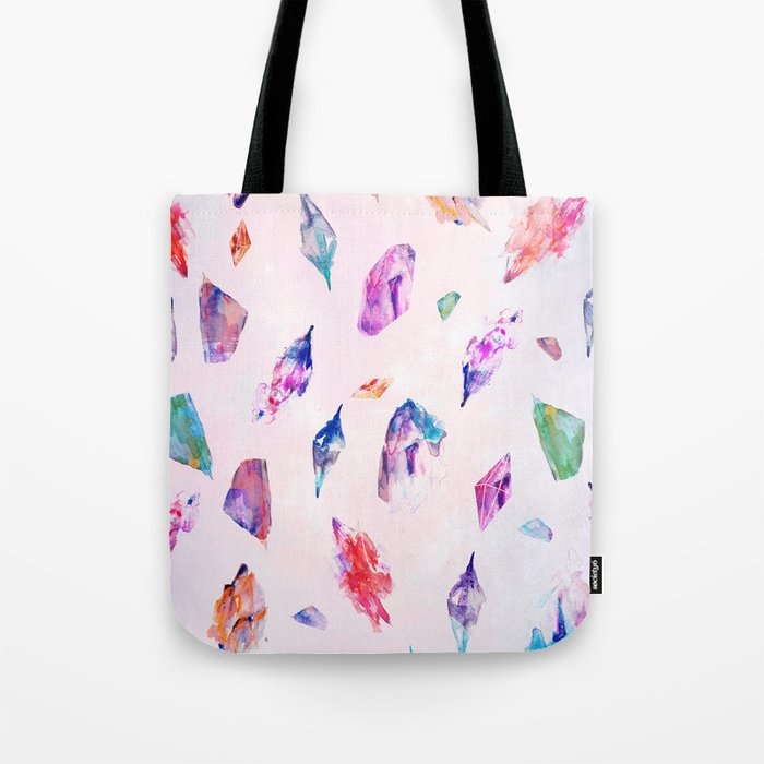 Watercolour Crystals  Tote Bag