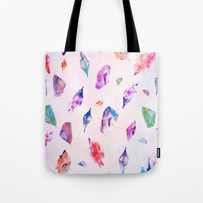 Watercolour Crystals  Tote Bag